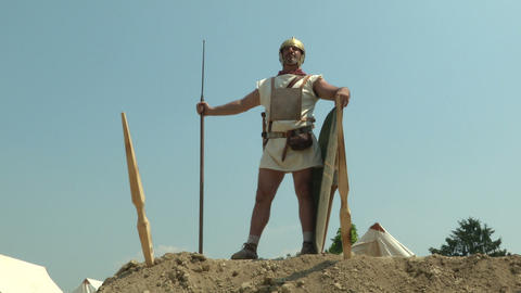 roman camp legionary 03 Footage