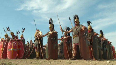 roman legion 02 Stock Video Footage