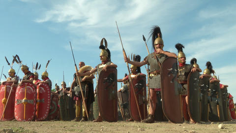 roman legion 02 Stock Video Footage