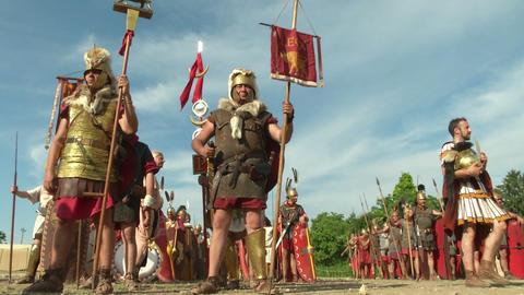 roman legion 04 Stock Video Footage