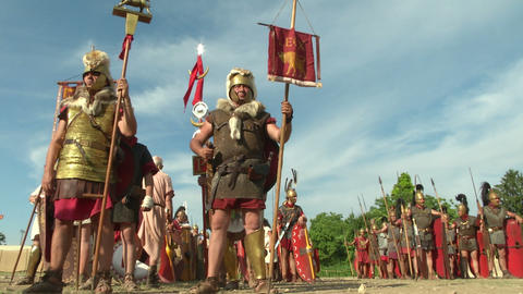 roman legion 04 Stock Video Footage