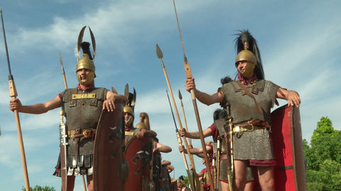 roman legion 12 Stock Video Footage