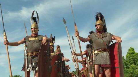 roman legion 12 Stock Video Footage