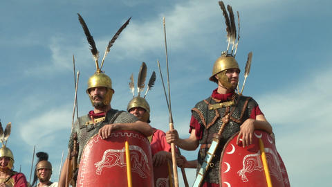 roman legion 16 Stock Video Footage