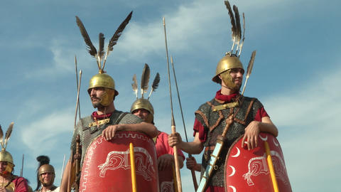 roman legion 16 Stock Video Footage