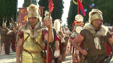 roman legion 18 Stock Video Footage
