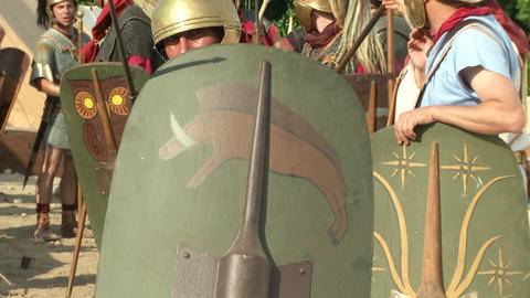 roman legion camp 02 Footage