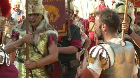 roman legion marching 06 Stock Video Footage