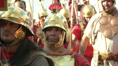 roman legion marching 06 Footage
