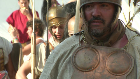 roman legion marching 06 Stock Video Footage