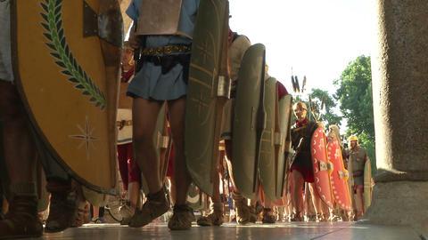 roman legion marching 08 Stock Video Footage