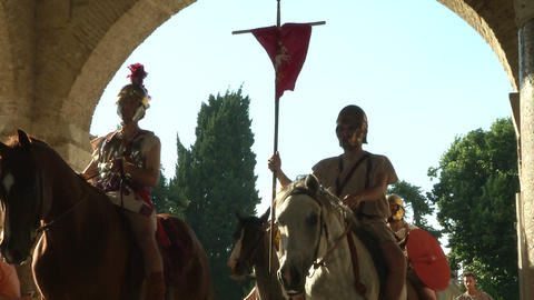roman legion marching 10 Stock Video Footage