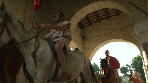 roman legion marching 10 Stock Video Footage