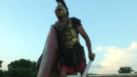 roman praetorian 02 Stock Video Footage