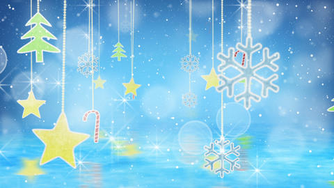 christmas hanging decorations loopable flying Animation