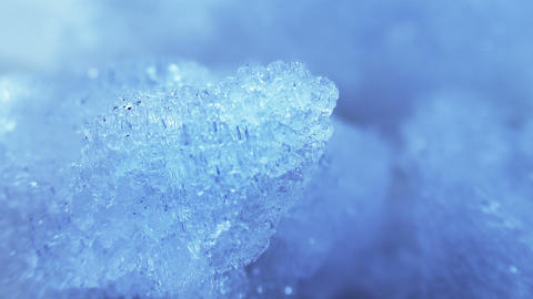 thawing blue ice close-up timelapse Stock Video Footage