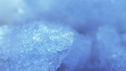 thawing blue ice close-up timelapse Footage