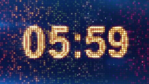 digital alarm clock display animation Stock Video Footage