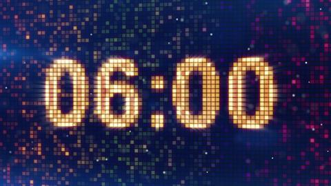 digital alarm clock display animation Animation