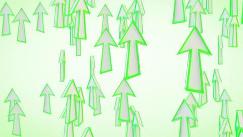 green arrows fly upward loop Stock Video Footage