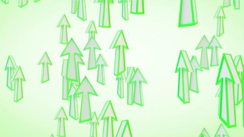 green arrows fly upward loop Animation