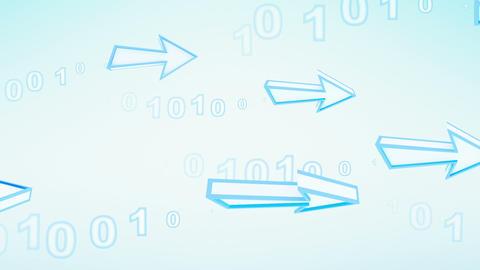 blue arrows transfering digital data loop Stock Video Footage