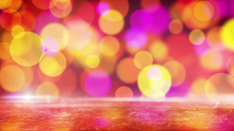 red circle bokeh lights and reflection on ice loop Stock Video Footage
