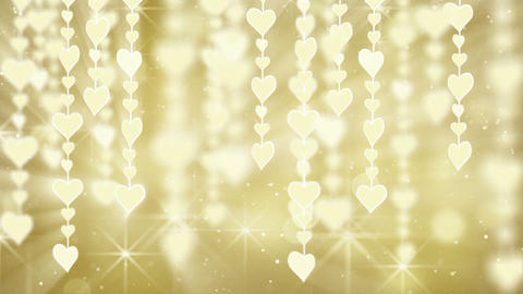 dangling gold hearts loop Animation
