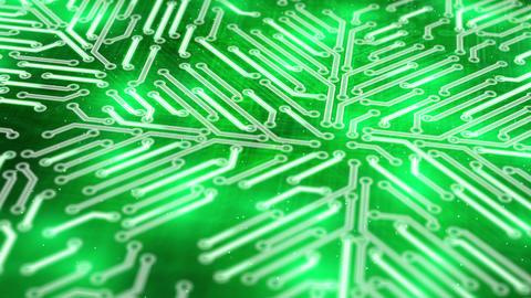 growing circuit board green 3d Stock Video Footage