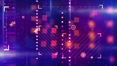 shiny blue orange abstract tech background loopabl Stock Video Footage