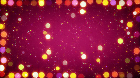 multicolored christmas lights seamless loop backgr Stock Video Footage