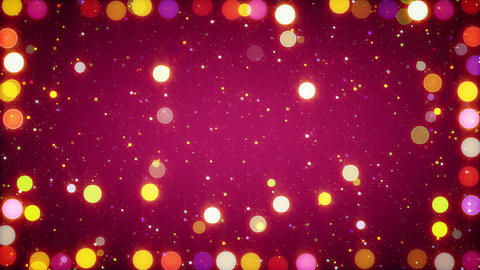 multicolored christmas lights seamless loop backgr Animation