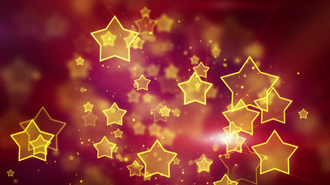orange star shape lights seamless loop background Stock Video Footage