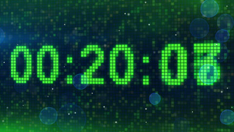 countdown digital timer animation Stock Video Footage