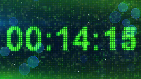 countdown digital timer animation Animation