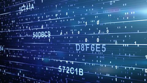 digital code looping blue background Stock Video Footage