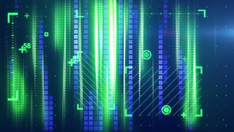 green blue abstract tech background loopable Stock Video Footage