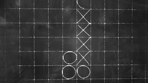 tick tack toe game on blackboard animation Animation