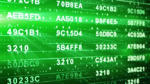 green hexadecimal data columns loopable background Stock Video Footage
