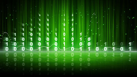 green digital data equalizer background loop Animation