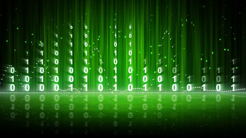 green digital data equalizer background loop Stock Video Footage