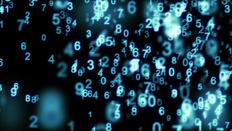 blue digital world 10.00-20.00 loop Stock Video Footage