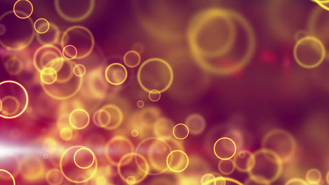 glowing yellow circle lights seamless loop backgro Stock Video Footage