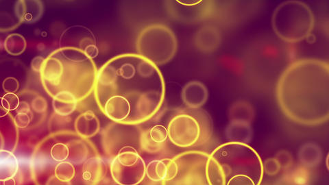 glowing yellow circle lights seamless loop backgro Stock Video Footage
