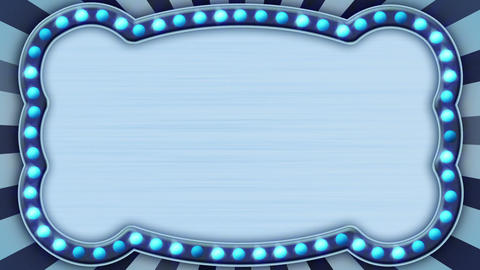 flash light blue marquee loop Stock Video Footage