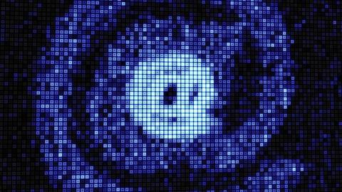 seamless loop at sign on digital screen Stock Video Footage
