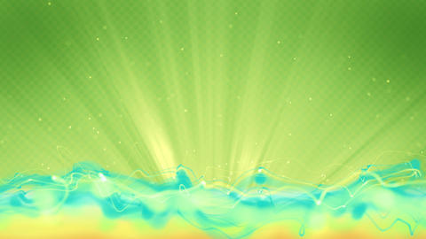 cyan flow and green background loop Animation