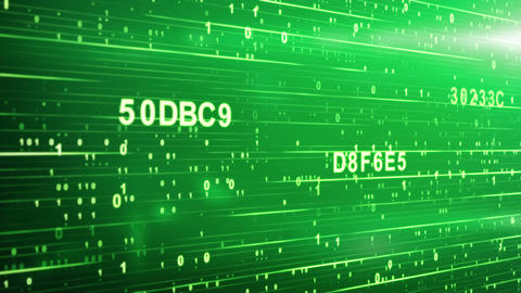 green digital code animation Stock Video Footage