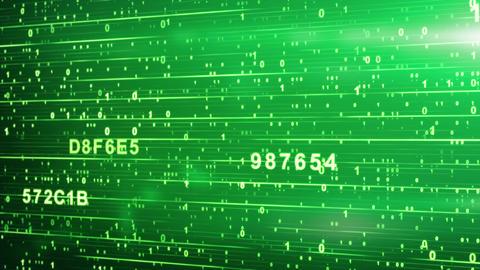 green digital code animation Stock Video Footage
