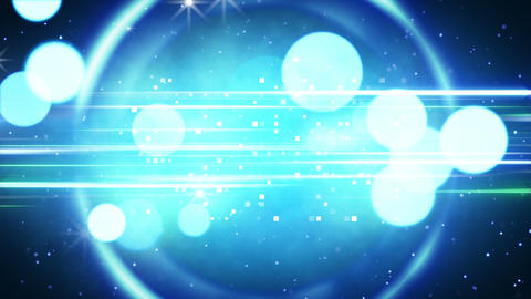 blue circles and glares loopable background Stock Video Footage